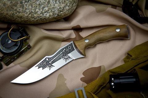Охотничий нож Зодиак с глубоким Рисунком