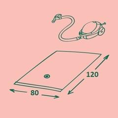 вакуумный пакет для хранения вещей 80х120 см, прозрачный