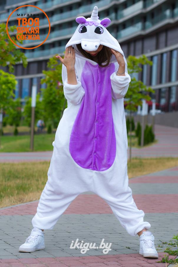Пижамы кигуруми Фиолетовый Единорог unicorn-fiolet.jpg