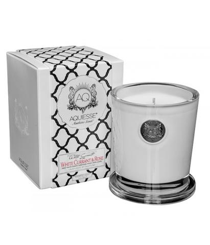 Ароматическая свеча большая Белая смородина и роза, Aquiesse