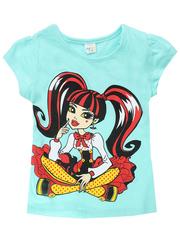 D002-22 футболка для девочек, голубая