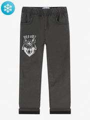 BWB000134 брюки для мальчиков утепленные, темно-серые
