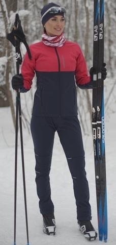 Детский утеплённый лыжный костюм Nordski Premium Pink/Blueberry