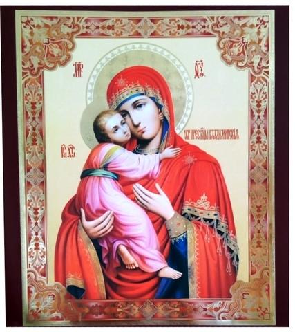 Плакат икона Владимирская Б М