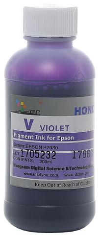 Чернила пигментные DCTec 7900P - UltraChrome HDR violet - 200 мл. Серия 198690