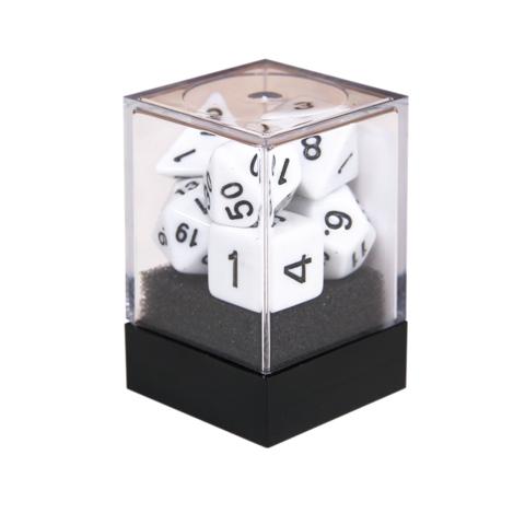 Набор разногранных белых кубиков