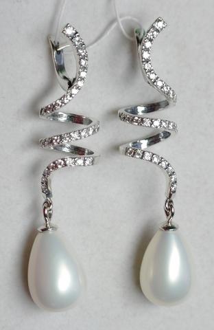 Ниагара (серебряные серьги)