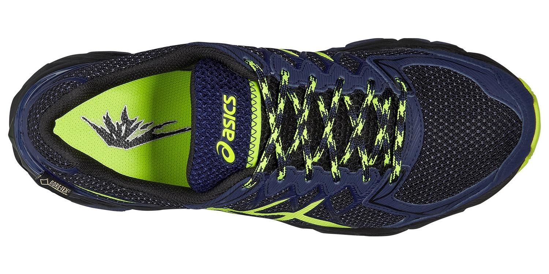 Мужские кроссовки внедорожники Asics Gel-Fuji Trabuco 4 GoreTex  (T5L7N 9007) синие фото