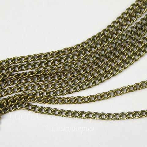 Цепь (цвет - античная бронза) 2,4х1,8 мм, примерно 2 м