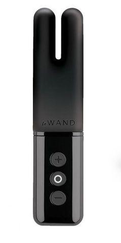 Чёрный двухмоторный мини-вибратор Le Wand Deux