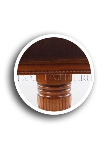 Стол обеденный 4260 STC круглый раскладной деревянный дуб в красноту