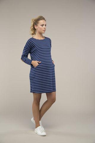 Платье 09101 синяя полоска