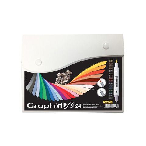 Набор маркеров GRAPH'IT Brush 24шт Комиксы