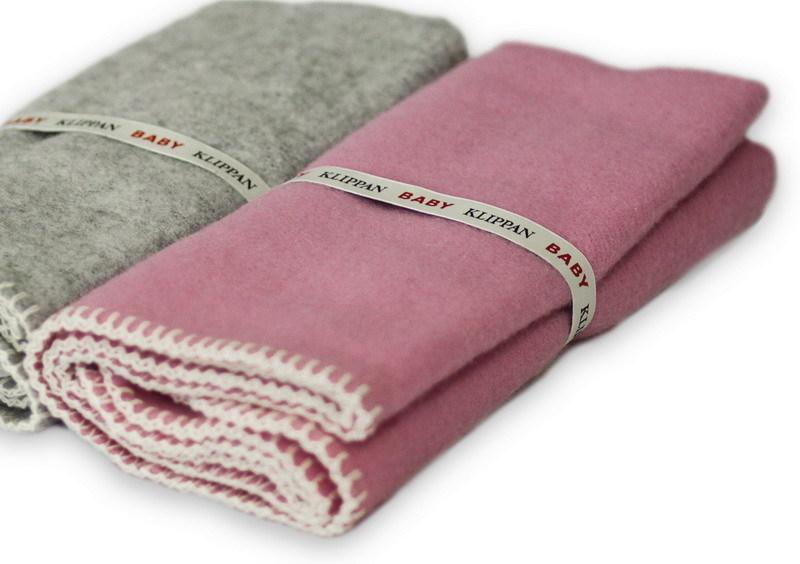 Одеяло/плед, KLIPPAN, 65 х 90 см, шерсть однотонная, розовый