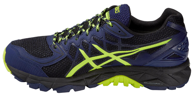 Мужские беговые кроссовки внедорожники Asics Gel-Fuji Trabuco 4 GoreTex  (T5L7N 9007) синие фото