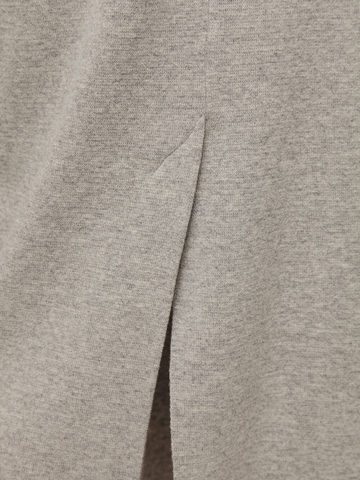 Женская серая юбка с разрезом из 100% кашемира - фото 3