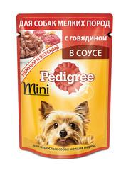 Pedigree для взрослых собак мини пород с говядиной в соусе 85 г