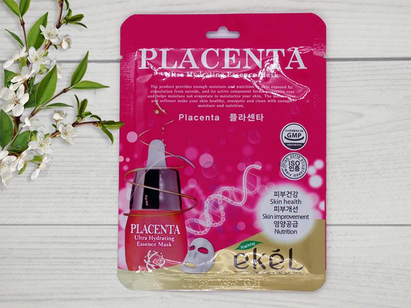 270125 EKEL Тканевая маска для лица с экст. плаценты Placenta