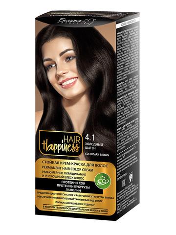 Белита-М Hair Happiness Крем-краска для волос аммиачная №4.1 холодный шатен