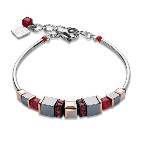 Браслет Coeur de Lion 4851/30-0300 цвет серый, красный