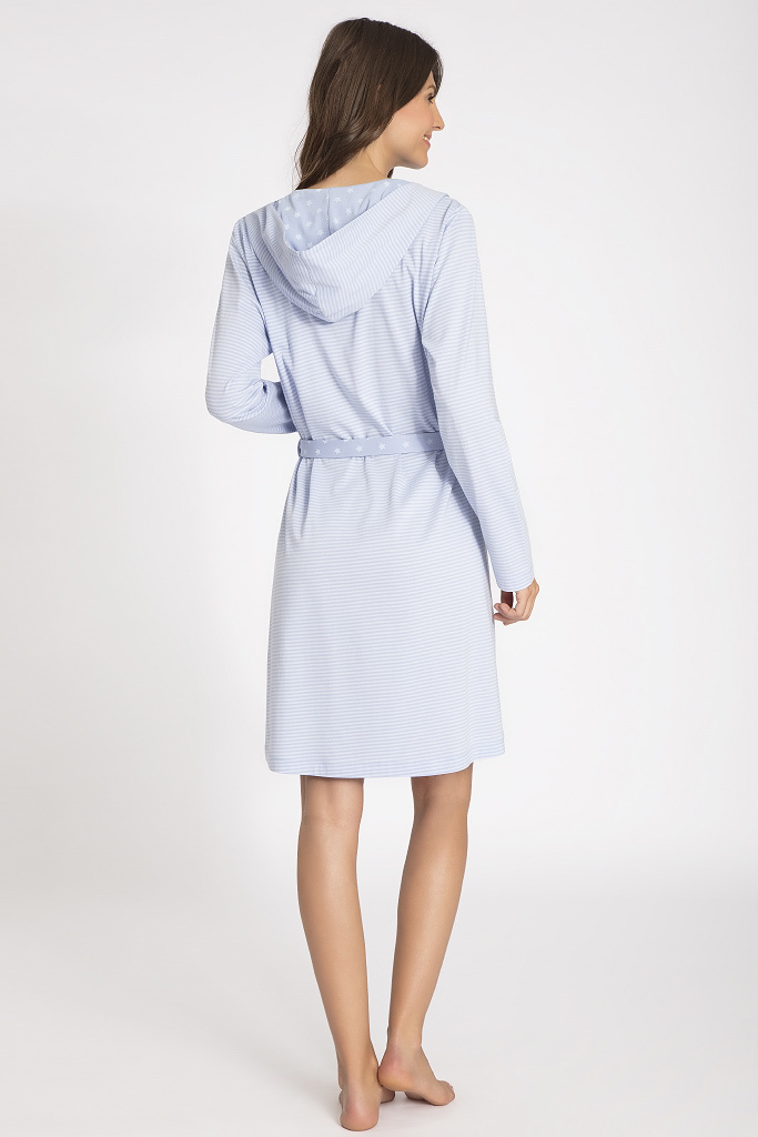 Короткий халат с капюшоном Taubert