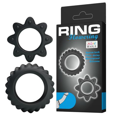 Набор силиконовых эрекционных колец Baile Ring Flowering (2,3 и 2,8 см)