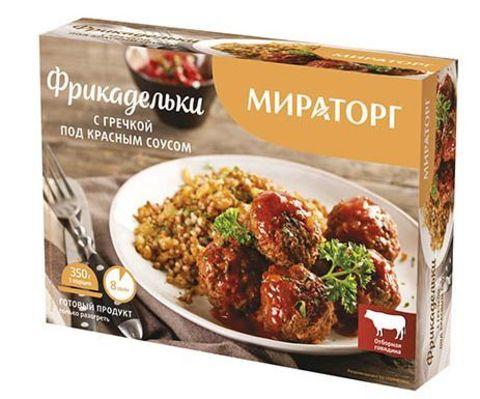 Фрикадельки с гречкой под красным соусом 350г Мираторг