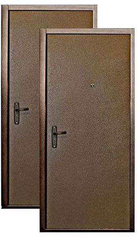 Стальная дверь Сибирь S 3(супер-эконом) 1 замок, 1 замок, 0,6 мм  металл (медь+медь)