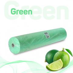 Одноразовые простыни Стандарт в рулоне зеленые, СМС, 200х70см (100шт/уп)