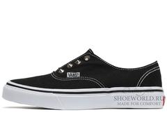 Кеды Vans Classic Slip-on Black White Thorns
