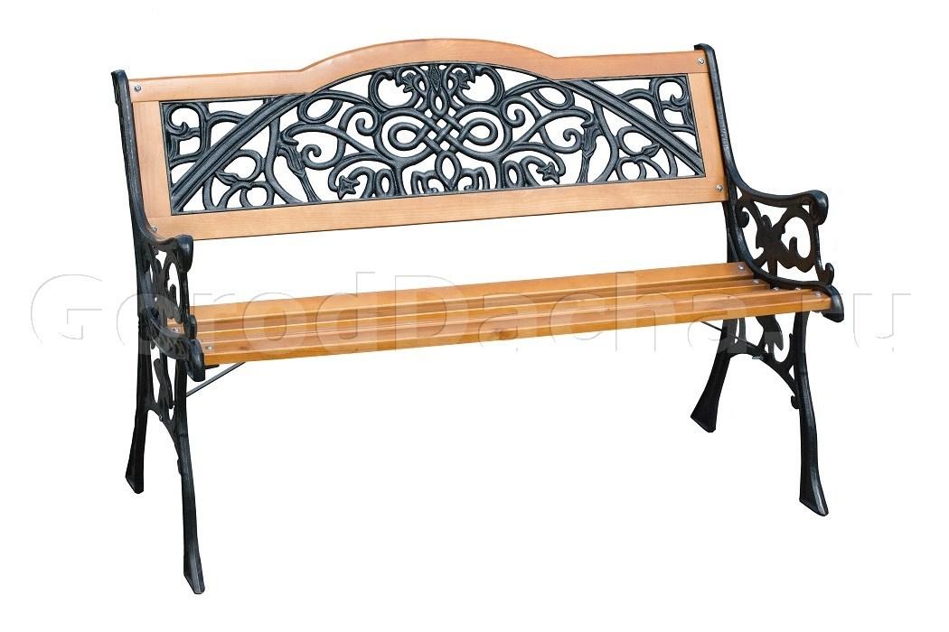 скамейка садовая чугунная арабеска