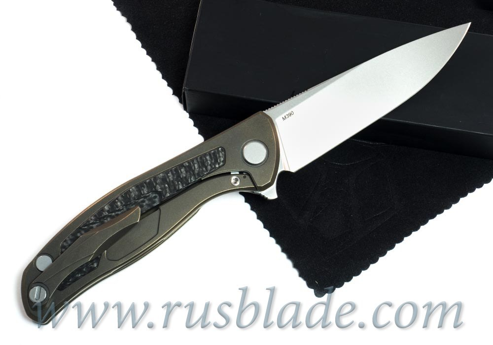 Shirogorov Flipper 95 M390 FS RARE Bronze Anodized