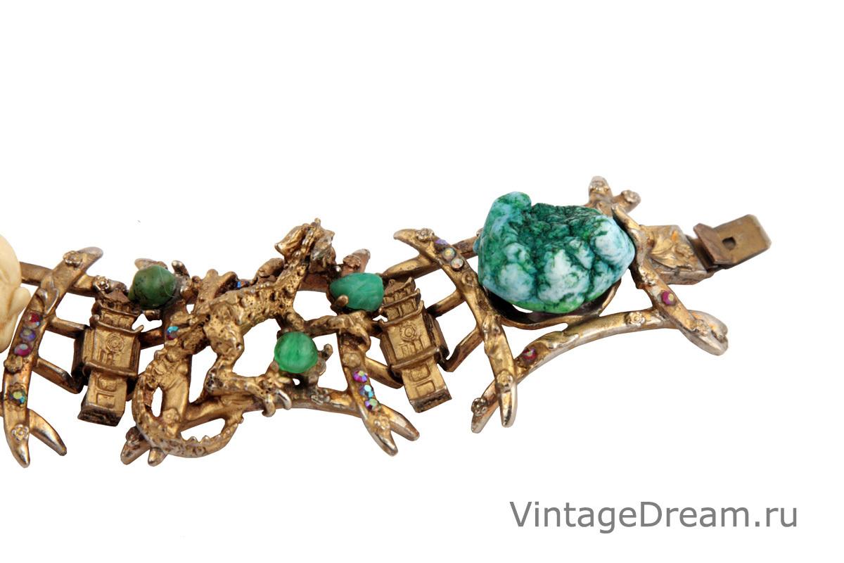 Роскошный браслет в азиатском стиле от Har, 1960 год.