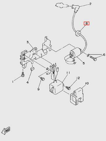 Уплотнитель для лодочного мотора T5 Sea-PRO (6-8)