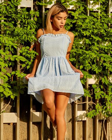 нежно-голубое летнее платье nadya