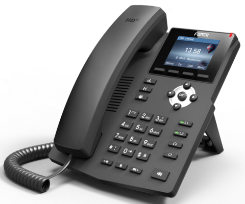 Fanvil X3S - Business SIP Phone (без POE) - IP телефон, 2 SIP линии, цветной LCD