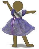 Платье из парчи и гипюра - Демонстрационный образец. Одежда для кукол, пупсов и мягких игрушек.