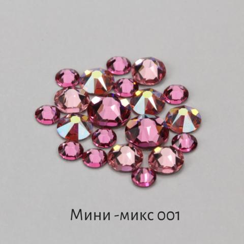 Стразы Swarovski для ногтей, Мини-микс №1 Розовая Пантера, 20шт.