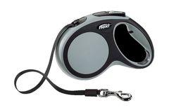 Flexi рулетка New comfort M до 25кг лента 5м черный/антрацит