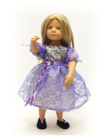 Платье из парчи и гипюра - На кукле. Одежда для кукол, пупсов и мягких игрушек.