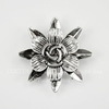 "Разделитель на 2 нити ""Цветок"" (цвет - античное серебро) 38х10 мм"