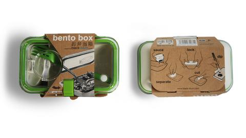 Ланч бокс с вилкой Bento Box, лайм