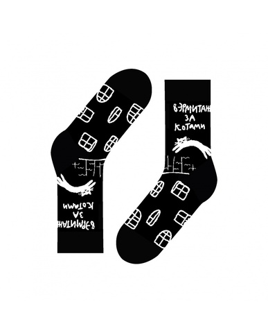 St.Friday Socks Hermitage cats (чёрные)