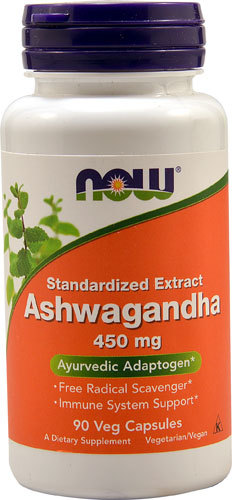 Простуда и иммунитет NOW Ashwagandha -- 450 mg - 90 Veg Capsules NOW-Ashwagandha-733739046031.jpg