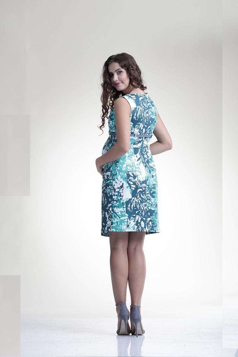 Платье 06198 цветочный принт