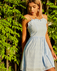 нежно-голубое летнее платье недорого