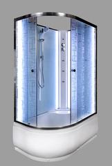 Душевая кабина DETO ЕМ4512 R N 120х80 см с LED-подсветкой и гидромассажем