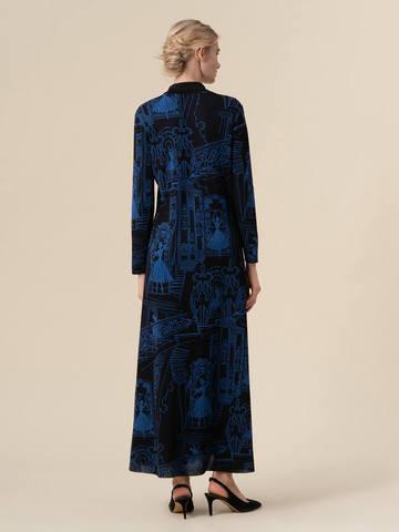Женское платье А-силуэта черного цвета из вискозы - фото 2