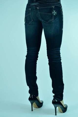 Черные джинсы женские Affliction