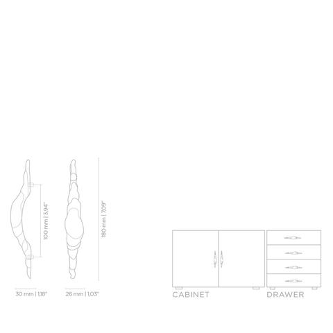 Мебельная ручка PullCast SONORAN EA1045